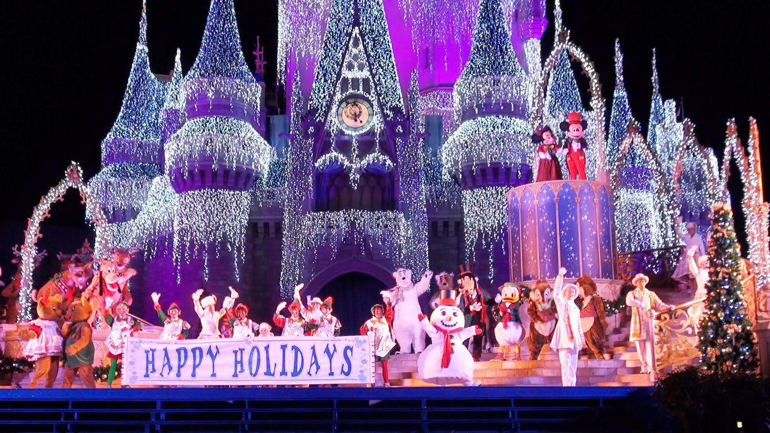 navidad while magic kingdom - Disney World Christmas Decorations 2017